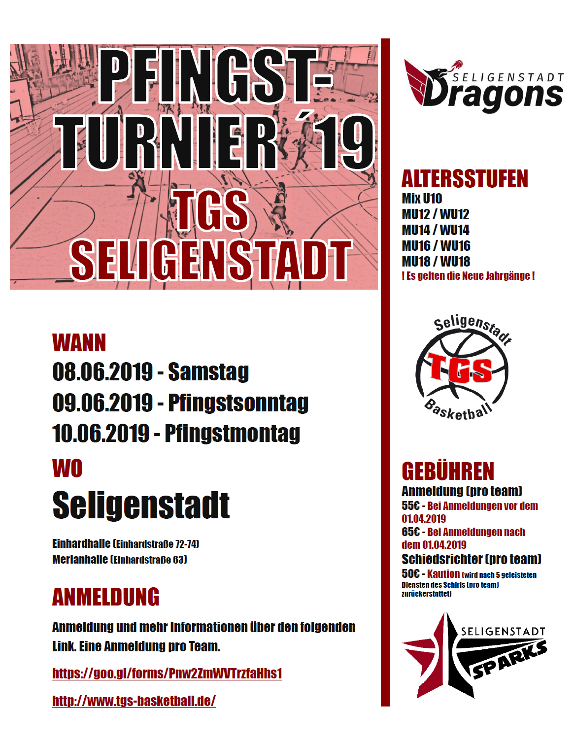 Pfingstturnier Flyer
